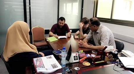 TAP-Palestine team in UCAS organized internal meeting