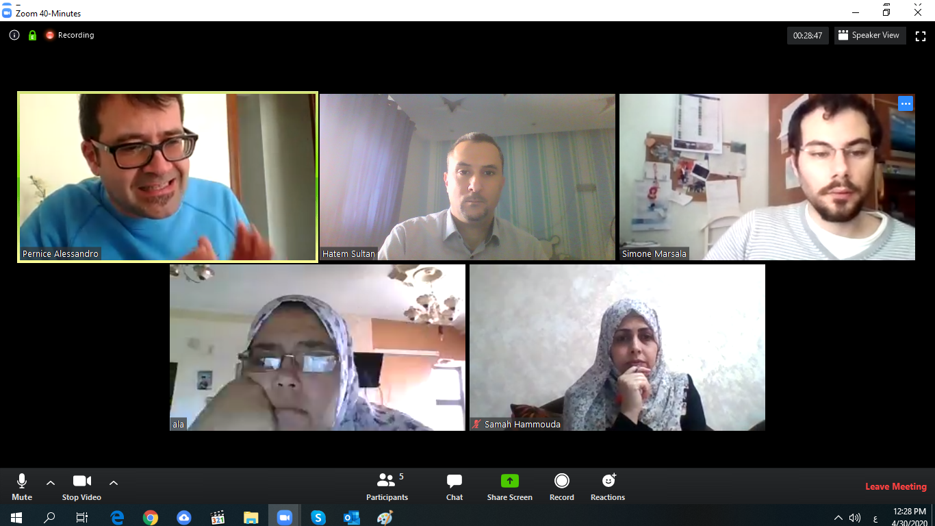 UCAS international relations team members participated in a virtual meeting under the umbrella of HELIOS project.