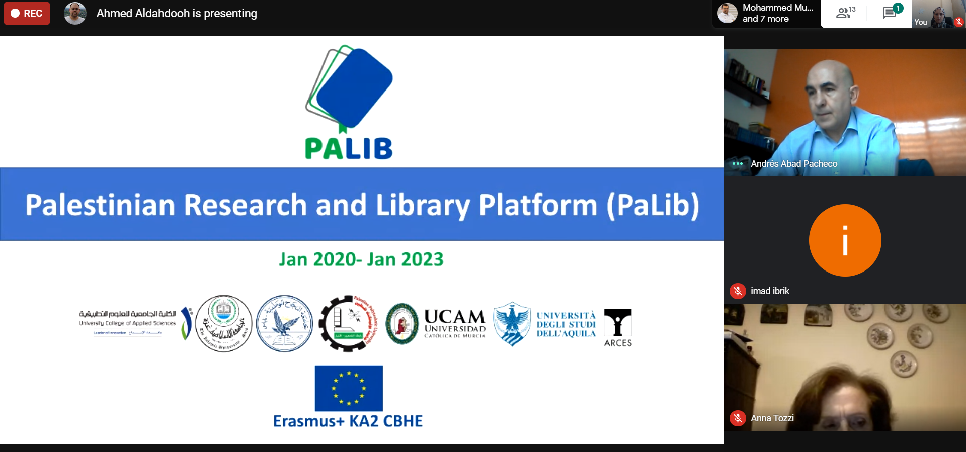 UCAS remotely conducted the 1st steering committee meeting within PALIB project