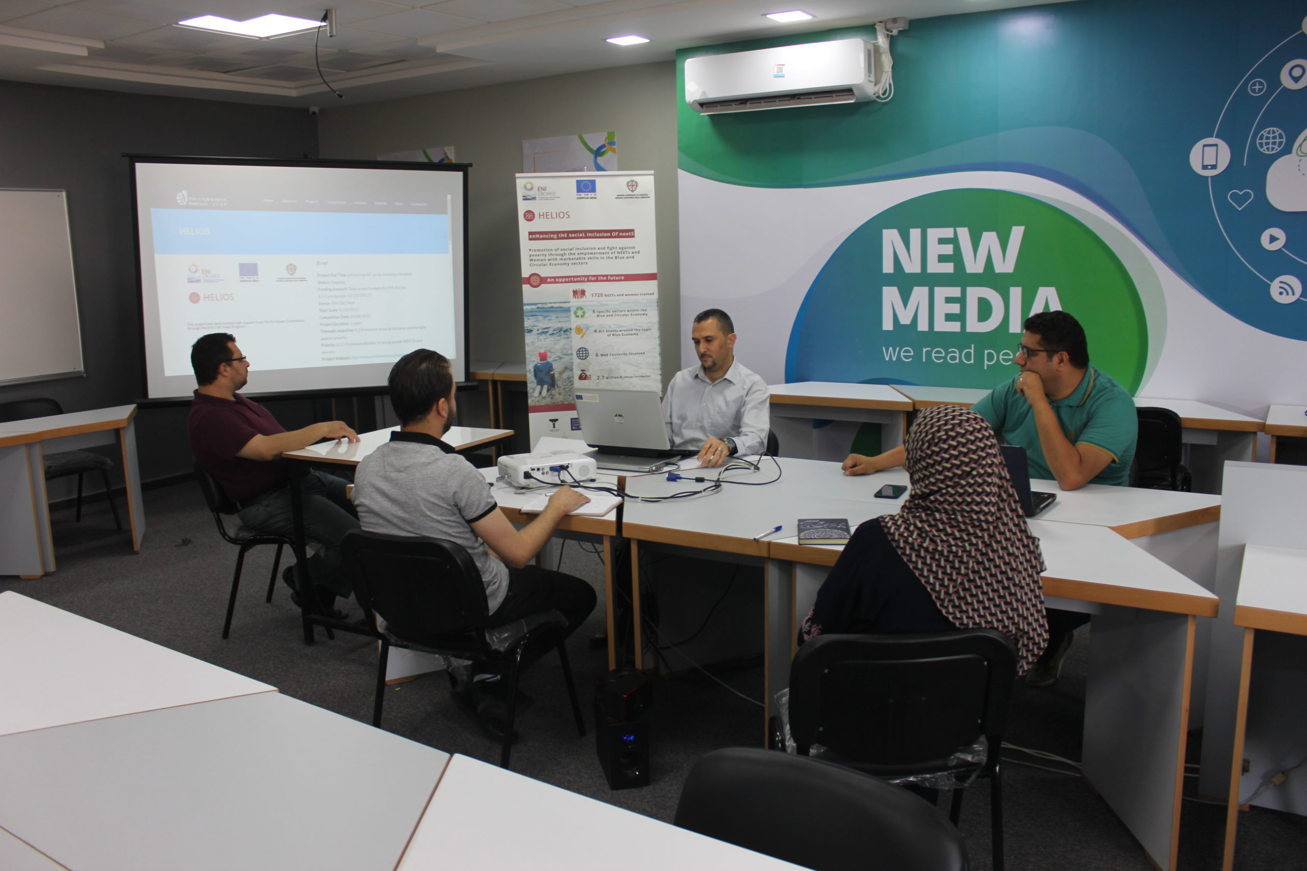 HELIOS local activity in UCAS Palestine: meeting Alumni unit